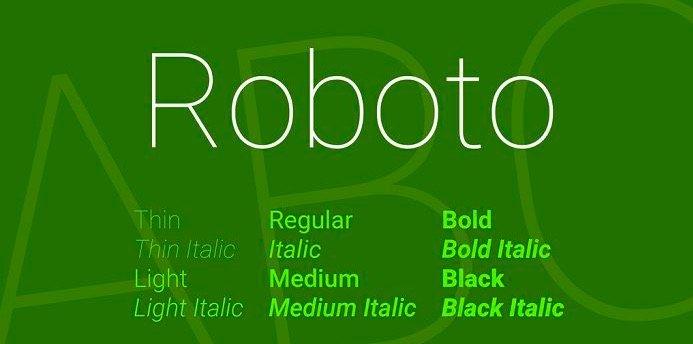 Roboto Font Free Download 1