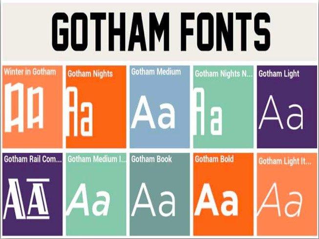 Download Gotham font free