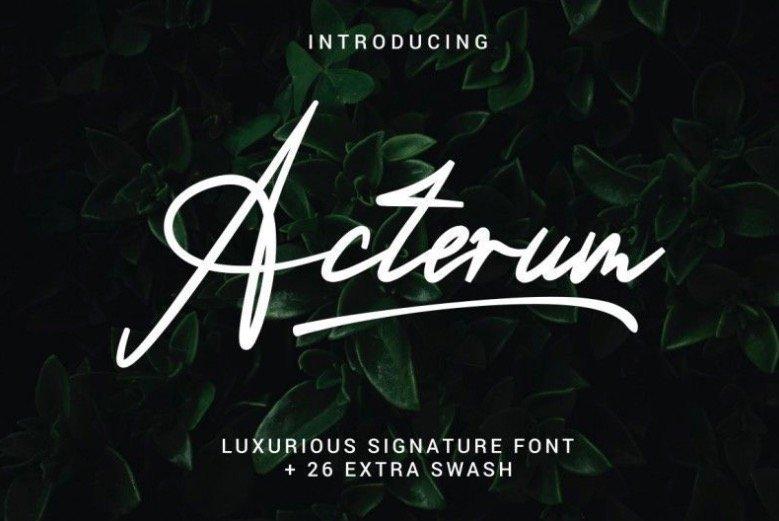 Acterum Font free download