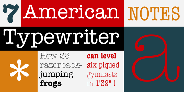 American Typewriter font free