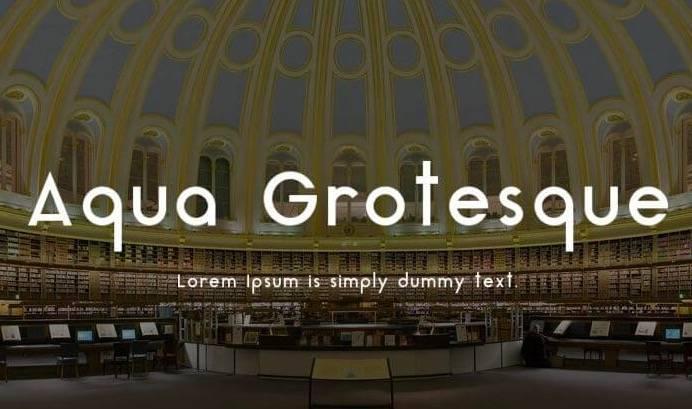 Aqua Grotesque font free download