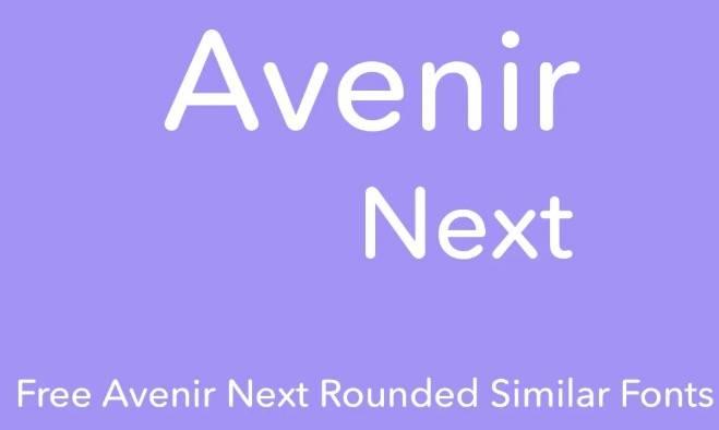 Avenir Next Pro rounded download