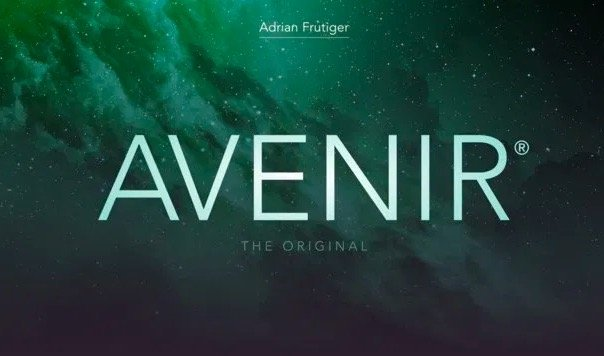 Avenir font free to download