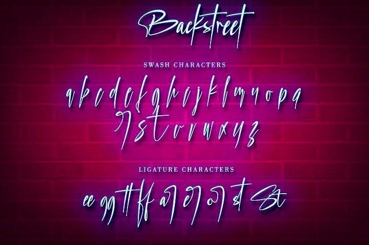 Backstreet Script Font free