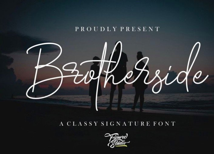 Brotherside Signature Font for all