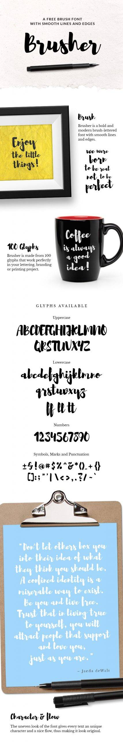 Brusher font free download
