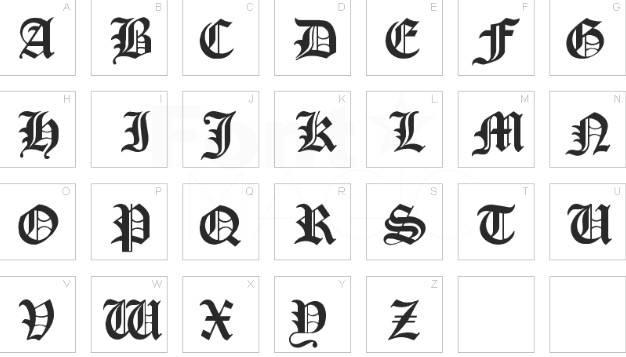 Cloister Black font free download