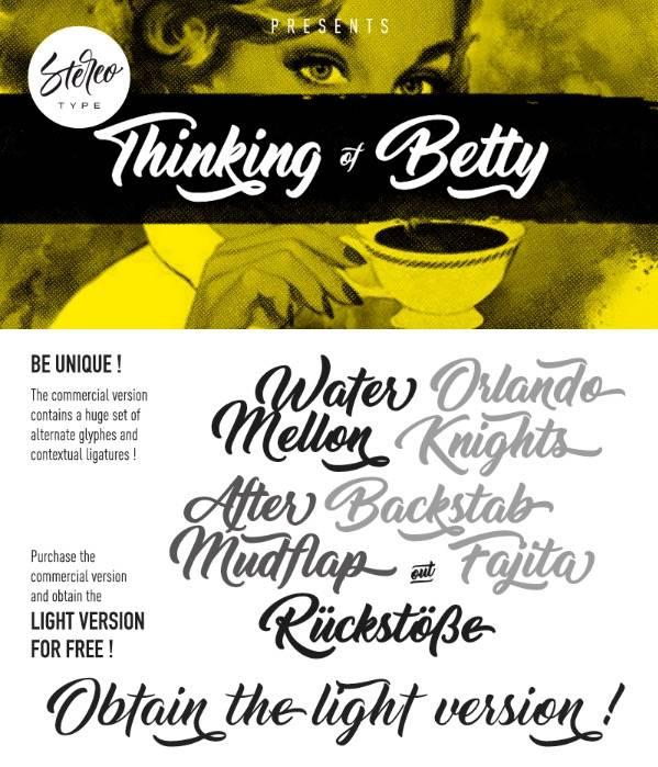 Thinking of Betty font