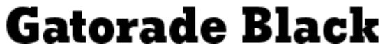 Gatorade font download for free