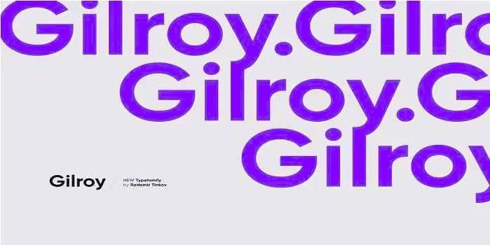 Gilroy Font Family