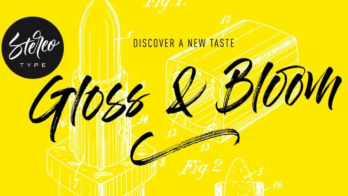 Gloss and Bloom Font download