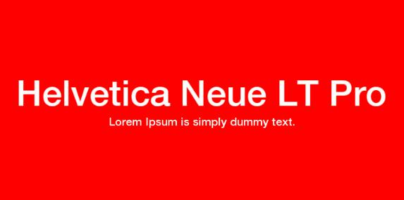Helvetica Neue LT (Complete)