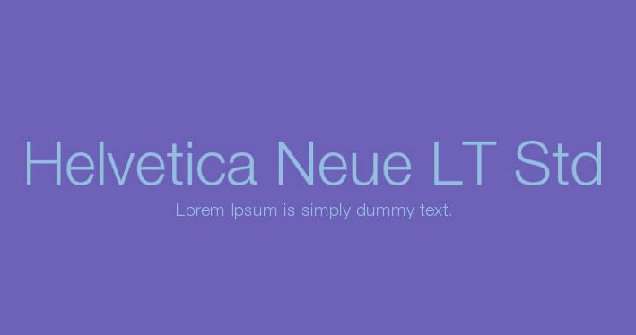Helvetica Neue LT Std free download