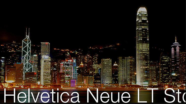 Helvetica Neue LT Std font