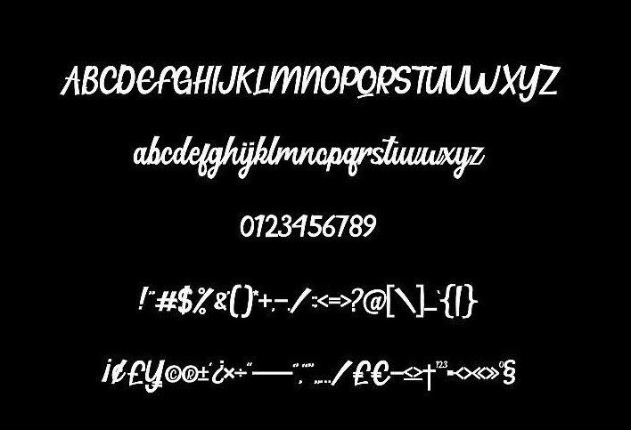 Hillton Modern Script Font for all