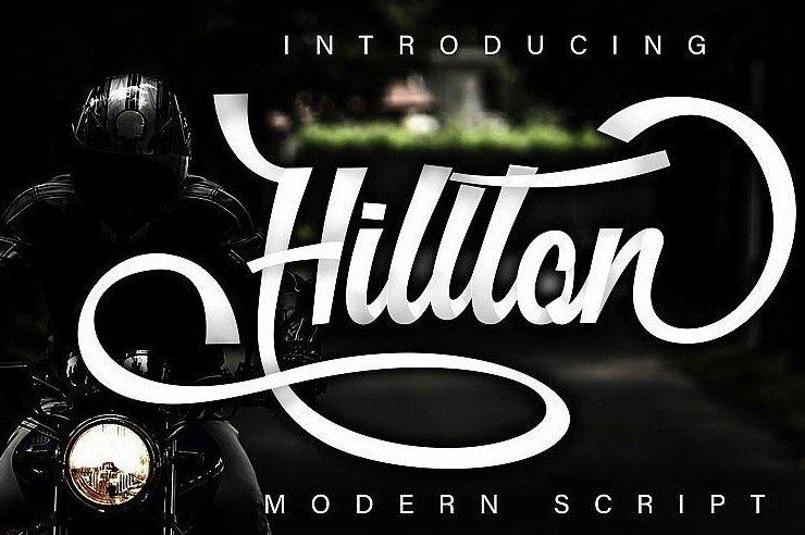 Hillton Modern Script Font for pro designer