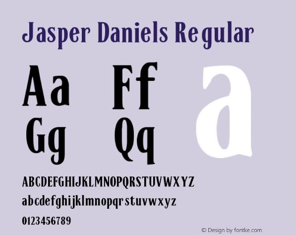 JASPER DANIELS Font free download