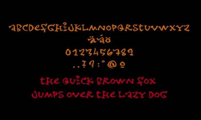 Joker Font - Gothic script font