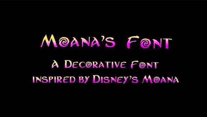 Moanas Font free download