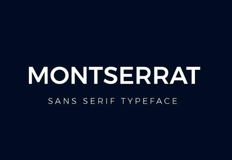 Montserrat Font Family to free