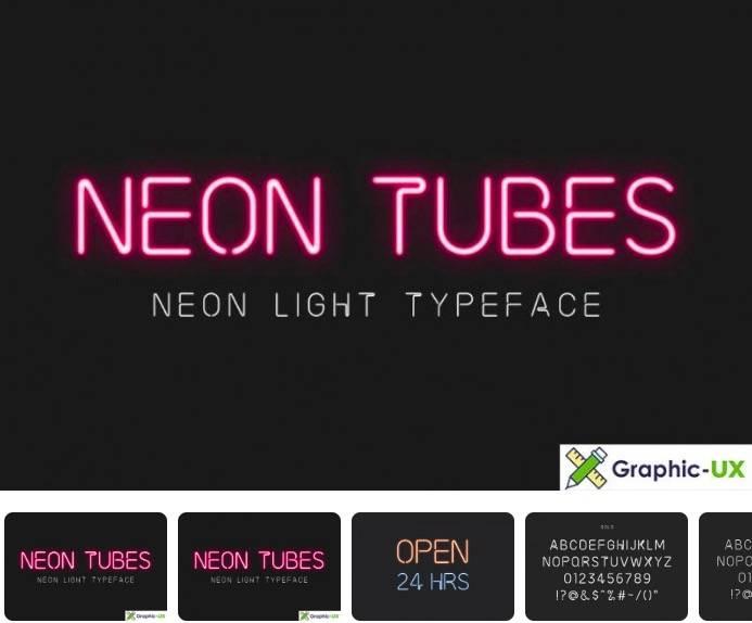 Neon Tubes – Neon Light Font free download