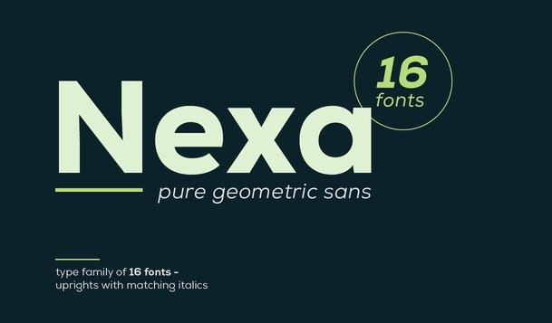 Nexa Font Free - is most suitable for headlines of all sizes