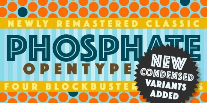 phosphate font
