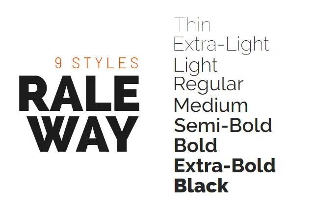 Raleway Font free download for designers