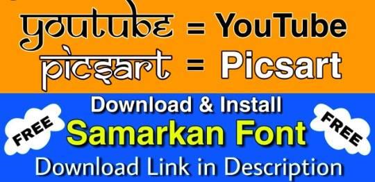 Samarkan Font free download