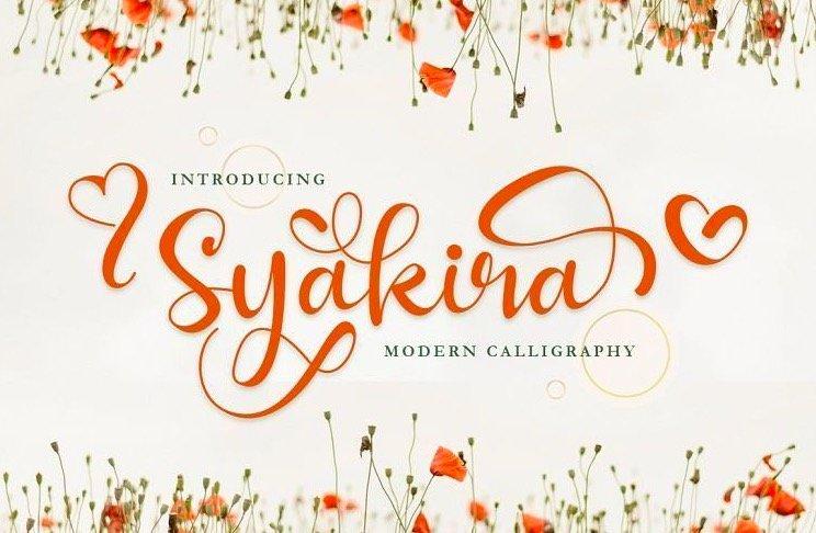 Download Syakira Calligraphy Font