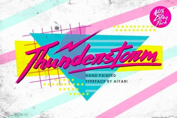 ThunderStorm Font free download