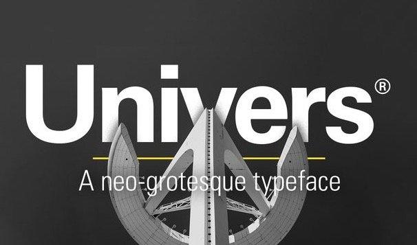 Univers font free for designer