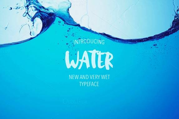 Water Font free download