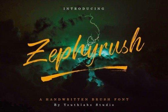 Zephyrush, This is a new handwritten script
