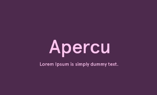 apercu font free download