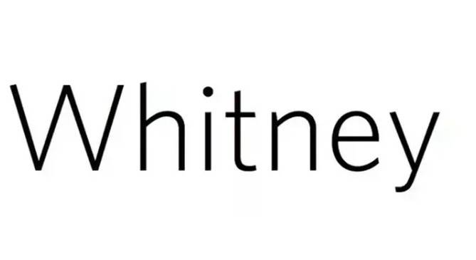 whitney font free download