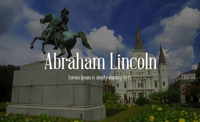 Abraham Lincoln Font free