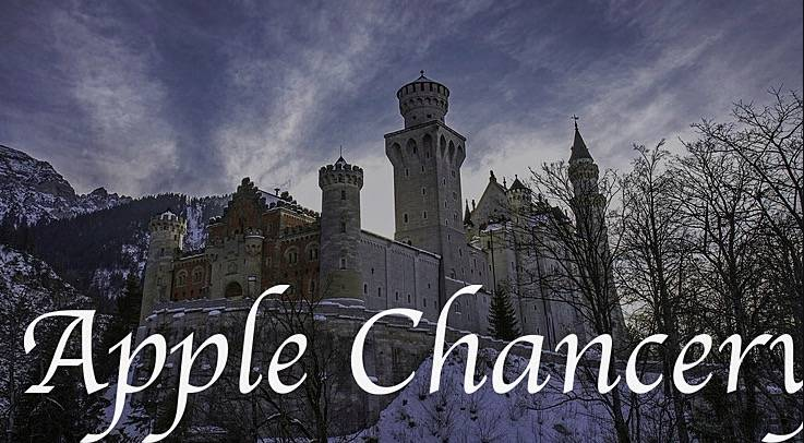 Apple Chancery font