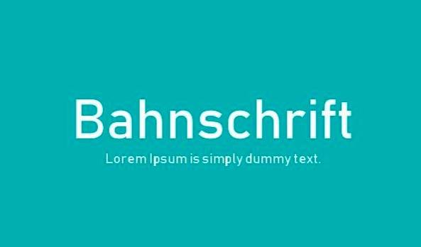 free Bahnschrift Font