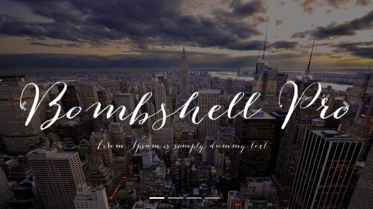 Bombshell Pro font free