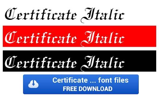 Certificate font free download 1