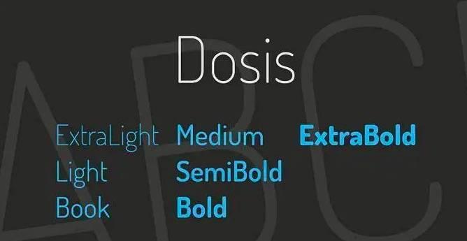 Dosis font download