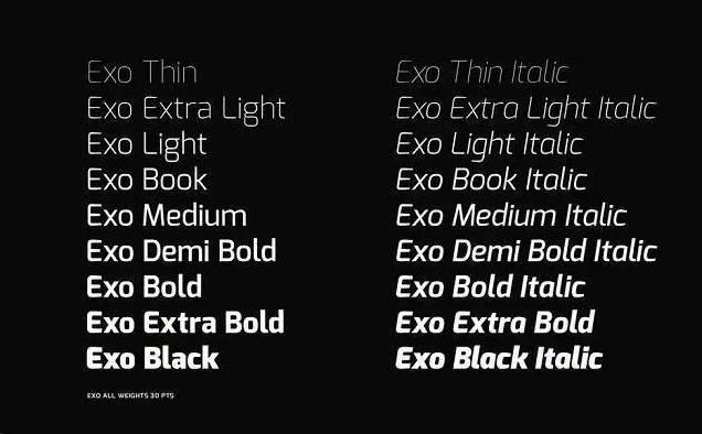 exo font download free