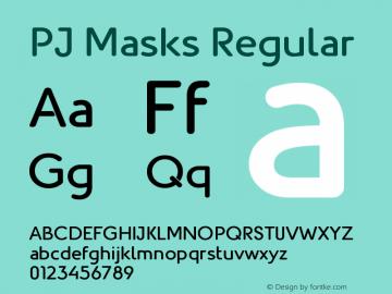 Fonte PJ masks free download