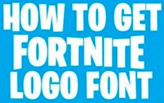 Fortnite font free