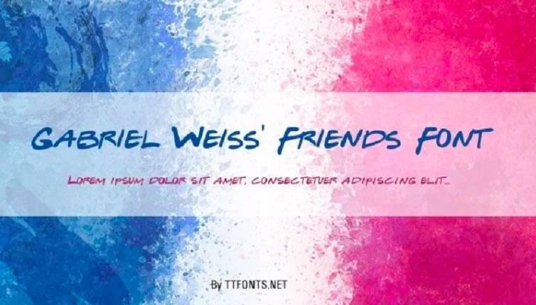 Gabriel Weiss Friends Font