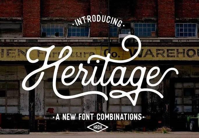 Heritage font free