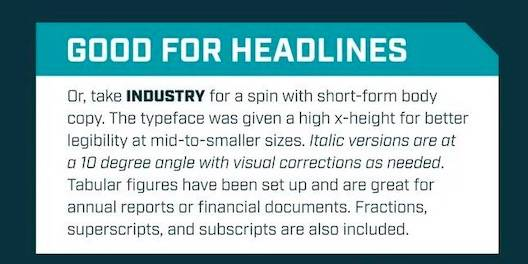 free Industry Font