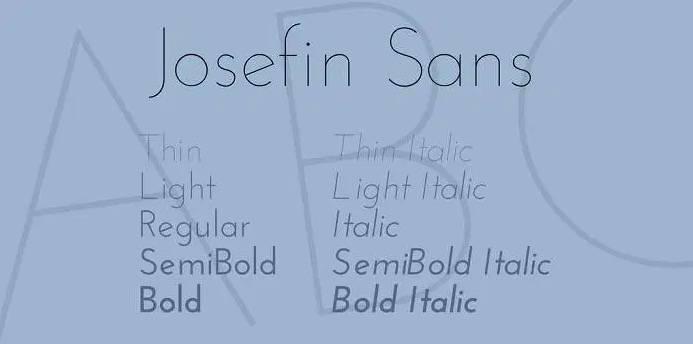 Josefin Sans font