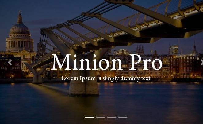 download Minion Pro font free